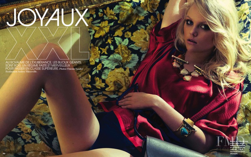 Anne Sophie Monrad featured in Joyaux XXL, April 2013