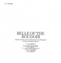 Belle of the boudoir