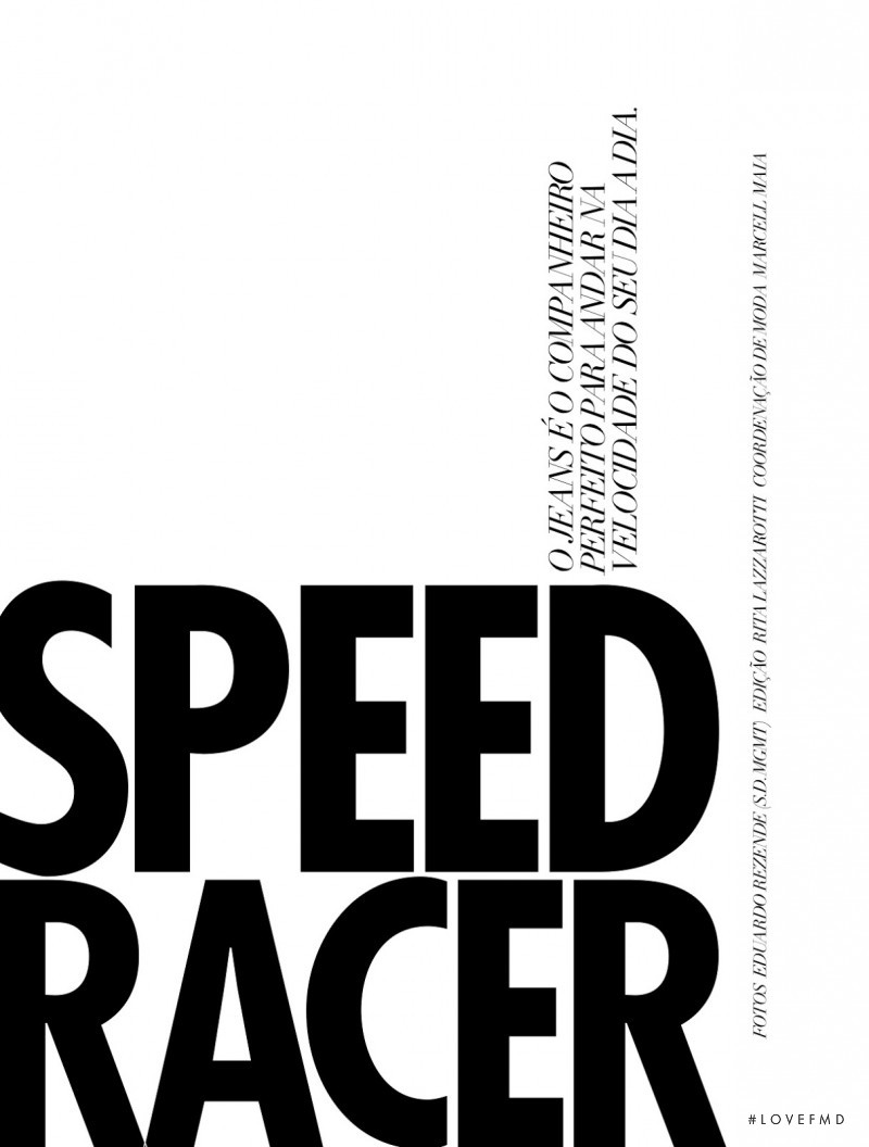 Carolina Thaler featured in Speed Racer, July 2013
