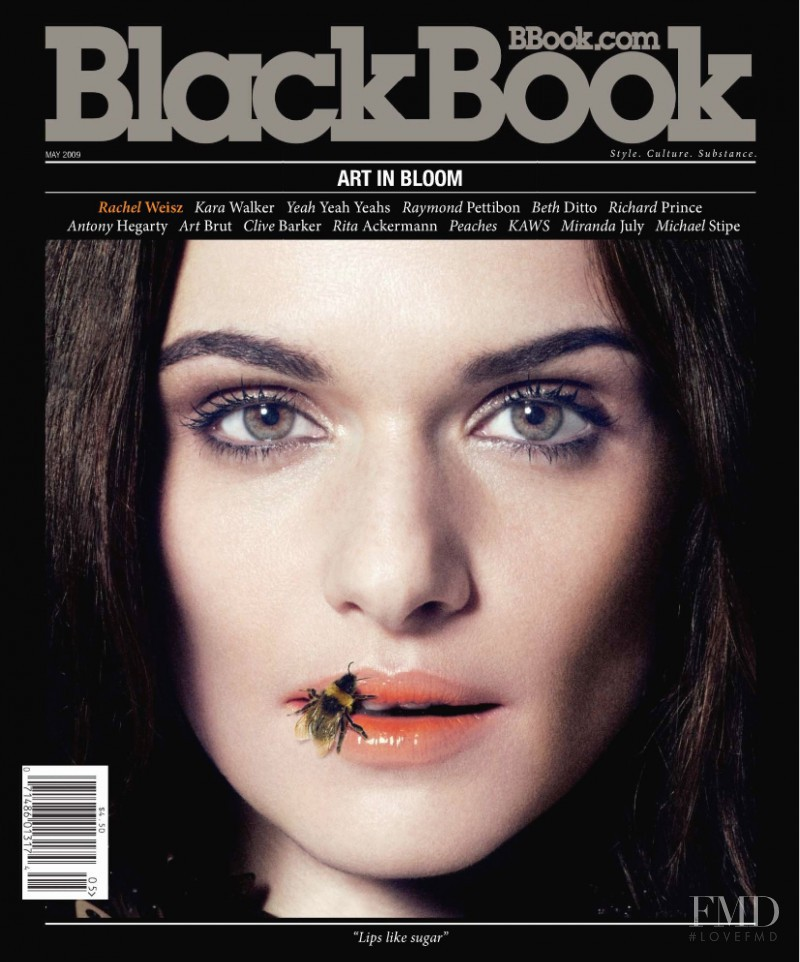 Rachel Weisz featured on the BlackBook Magazine cover from May 2009