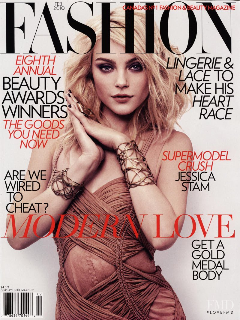 Jessica Stam featured on the Fashion cover from February 2010