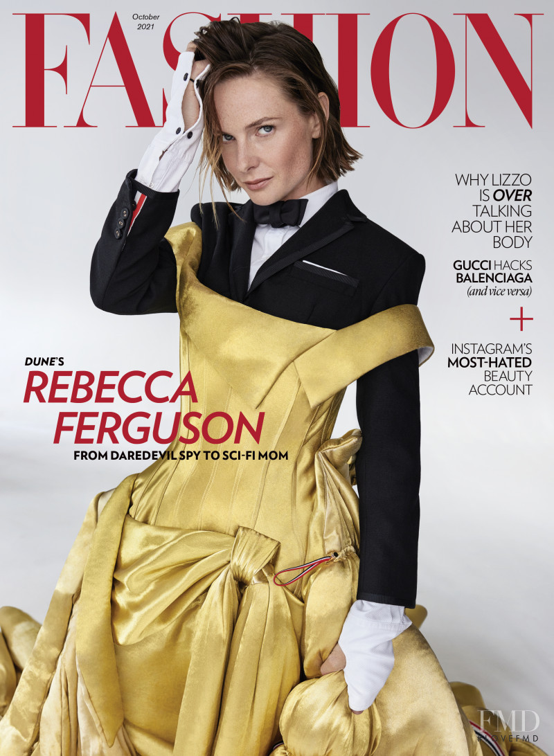 Rebecca Ferguson featured on the Fashion cover from October 2021