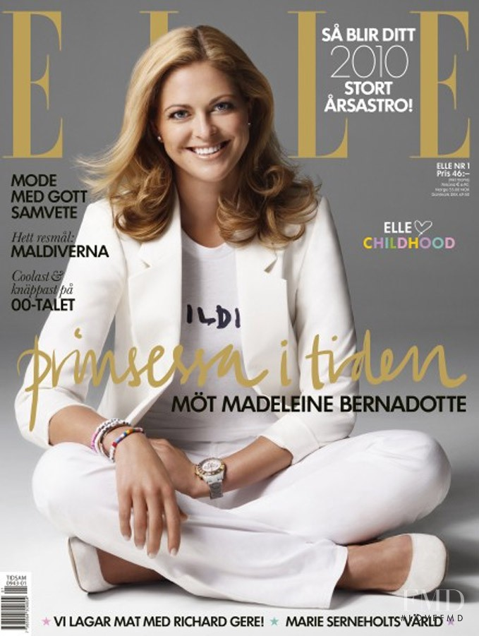 featured on the Elle Sweden cover from January 2010