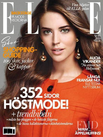 Clara Alonso featured on the Elle Sweden cover from September 2011