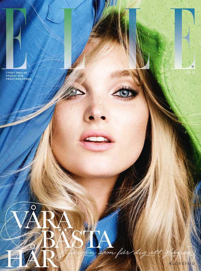 Elsa Hosk featured on the Elle Sweden cover from November 2012