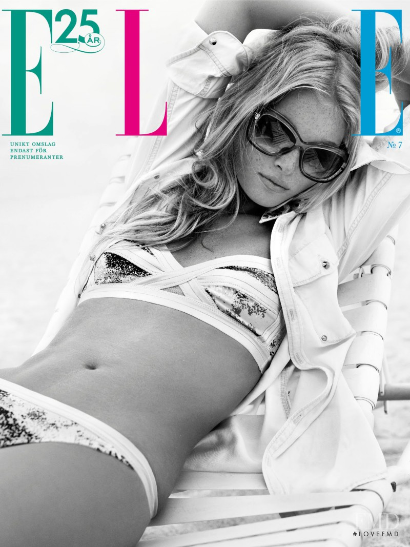 Elsa Hosk featured on the Elle Sweden cover from July 2013
