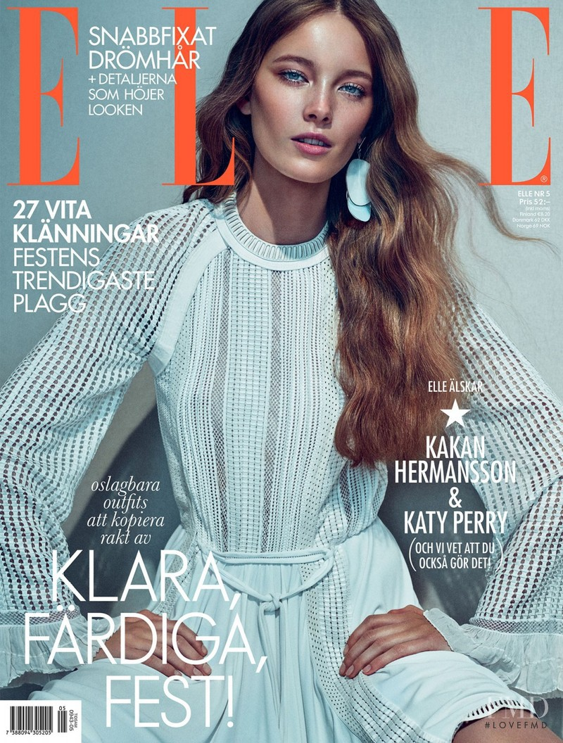 featured on the Elle Sweden cover from May 2015