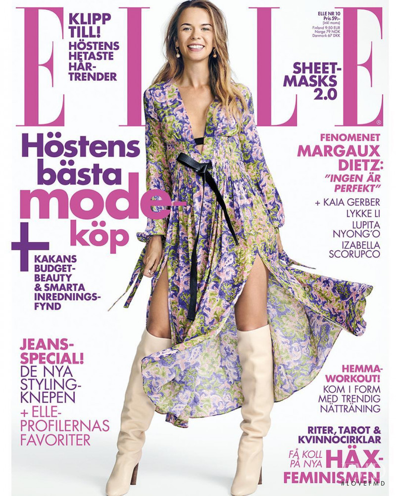 featured on the Elle Sweden cover from October 2018