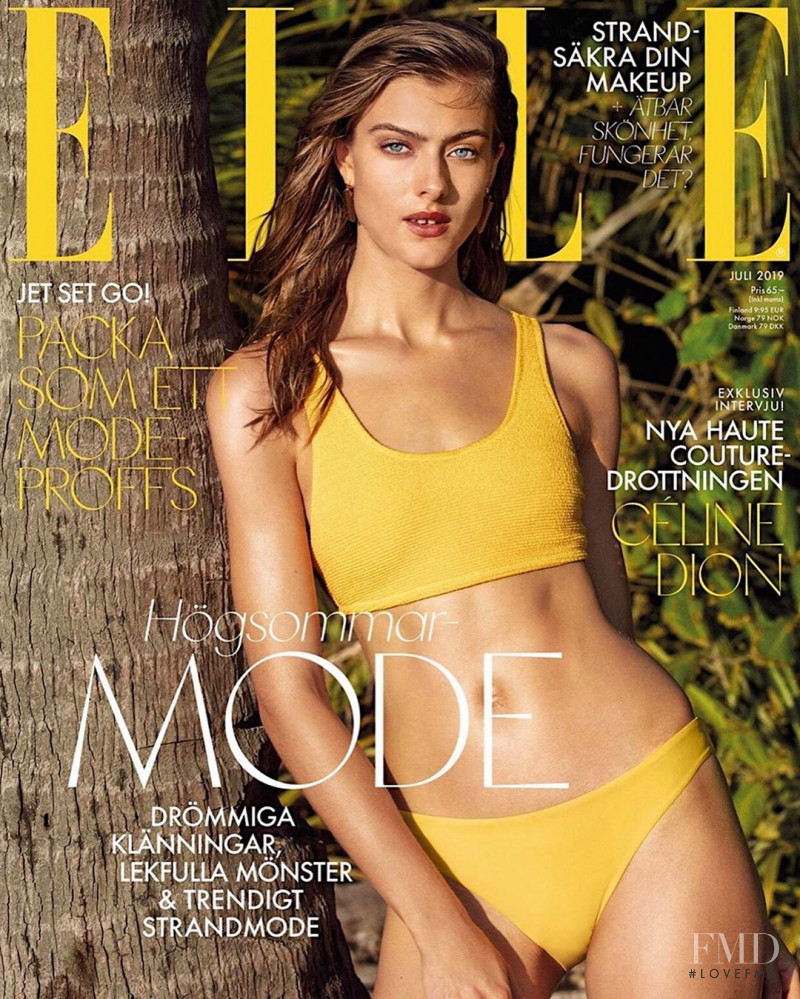 Lone Praesto featured on the Elle Sweden cover from July 2019