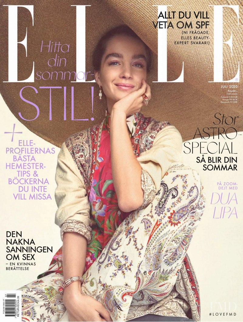 featured on the Elle Sweden cover from July 2020