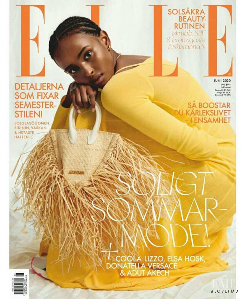 Ifrah Qasim featured on the Elle Sweden cover from June 2020