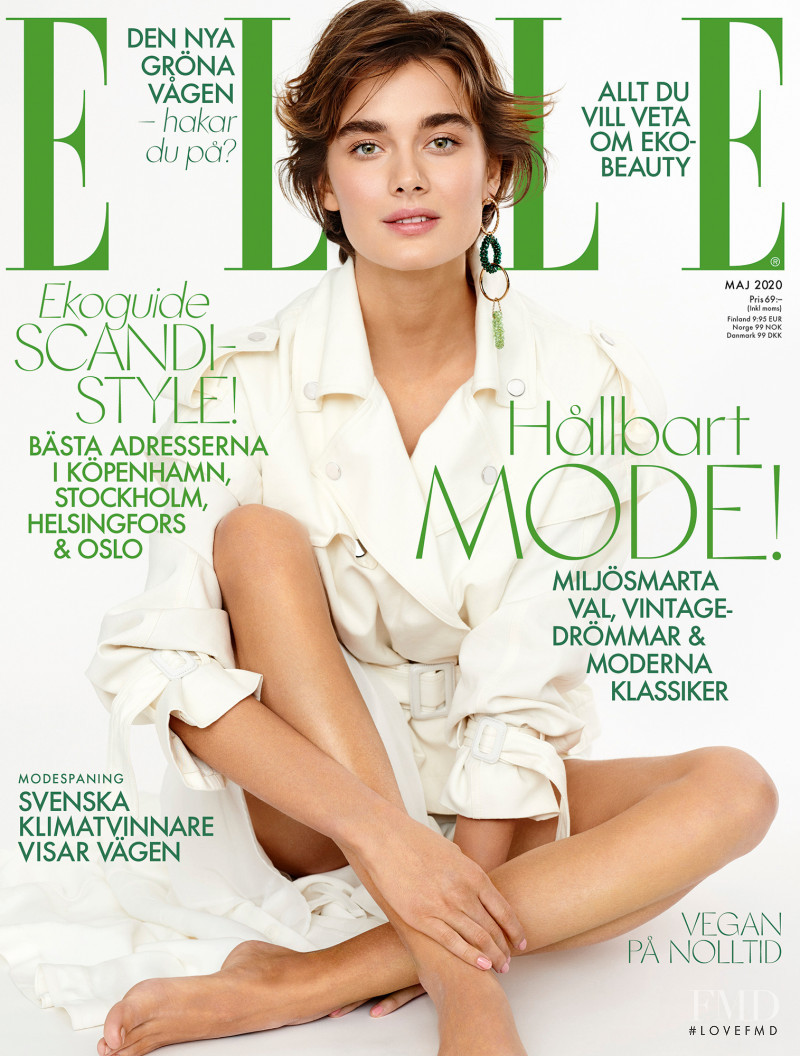 Juli Kocemba featured on the Elle Sweden cover from May 2020