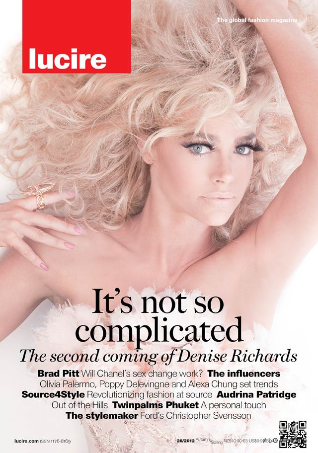 Denise Richards featured on the Lucire New Zealand cover from August 2012