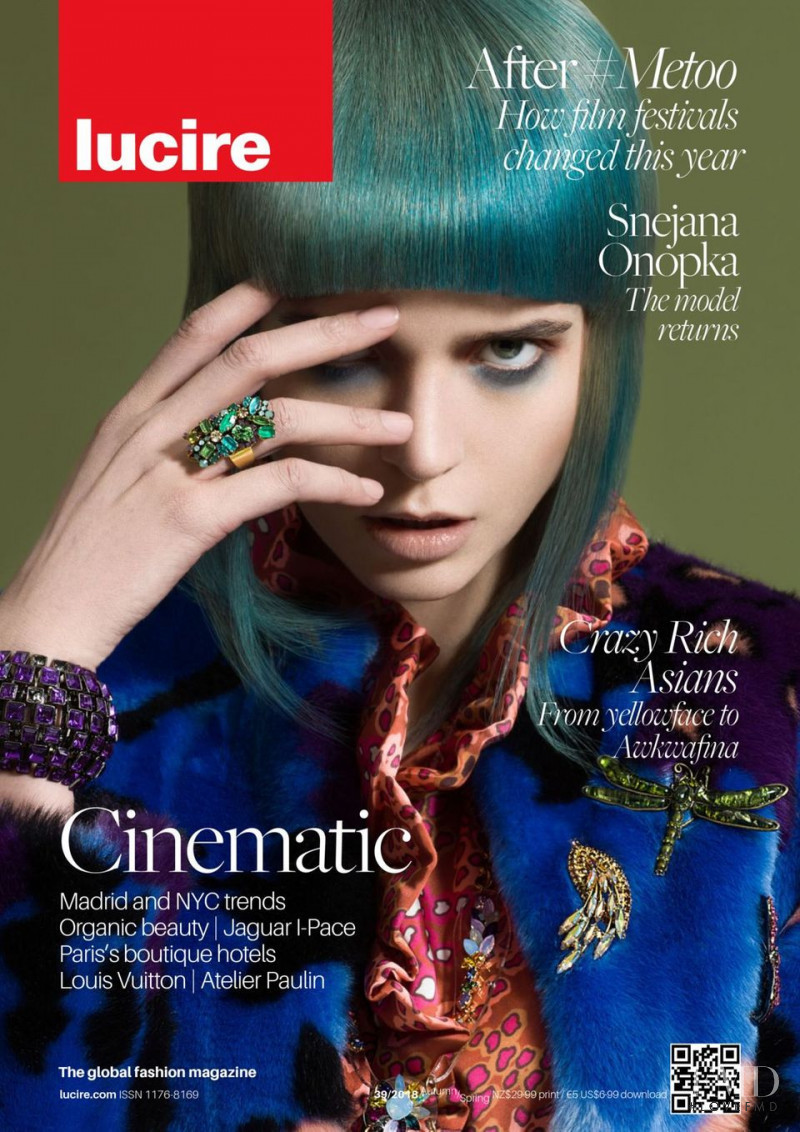 Agne Petkute featured on the Lucire New Zealand cover from December 2018