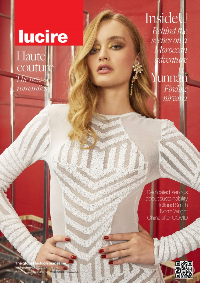 Zoey Caye featured on the Lucire New Zealand cover from June 2020