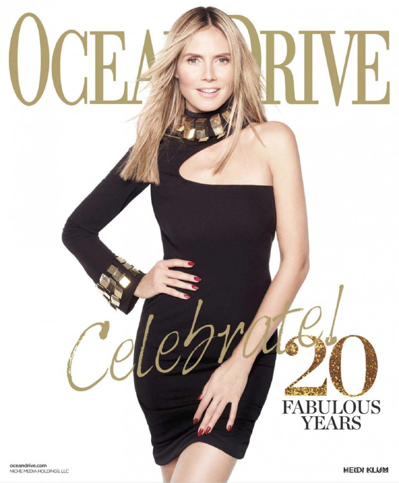 Heidi Klum featured on the Ocean Drive cover from January 2013