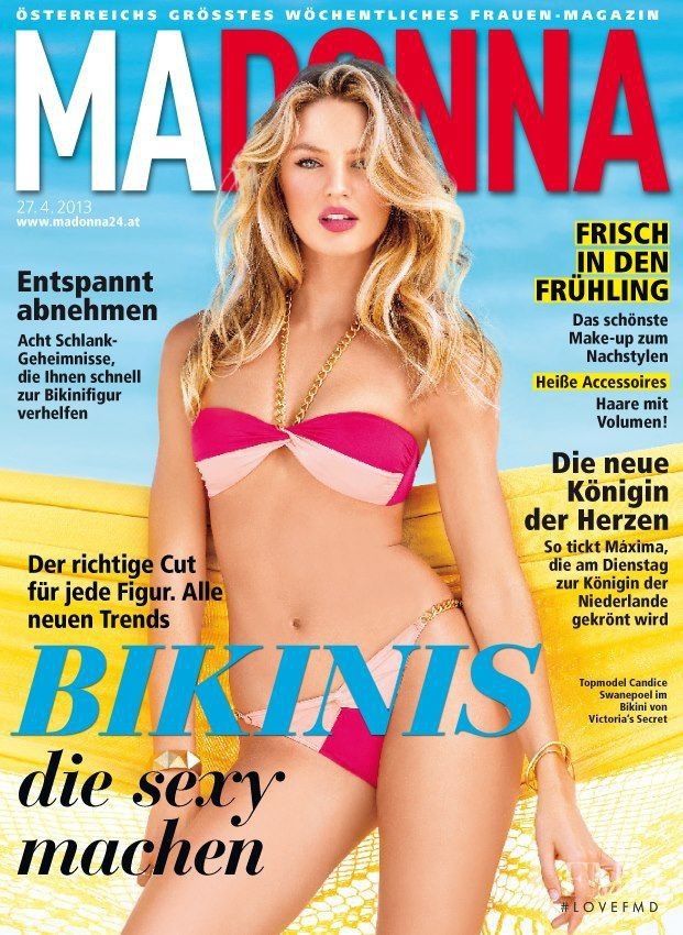Candice Swanepoel featured on the MADONNA cover from April 2013