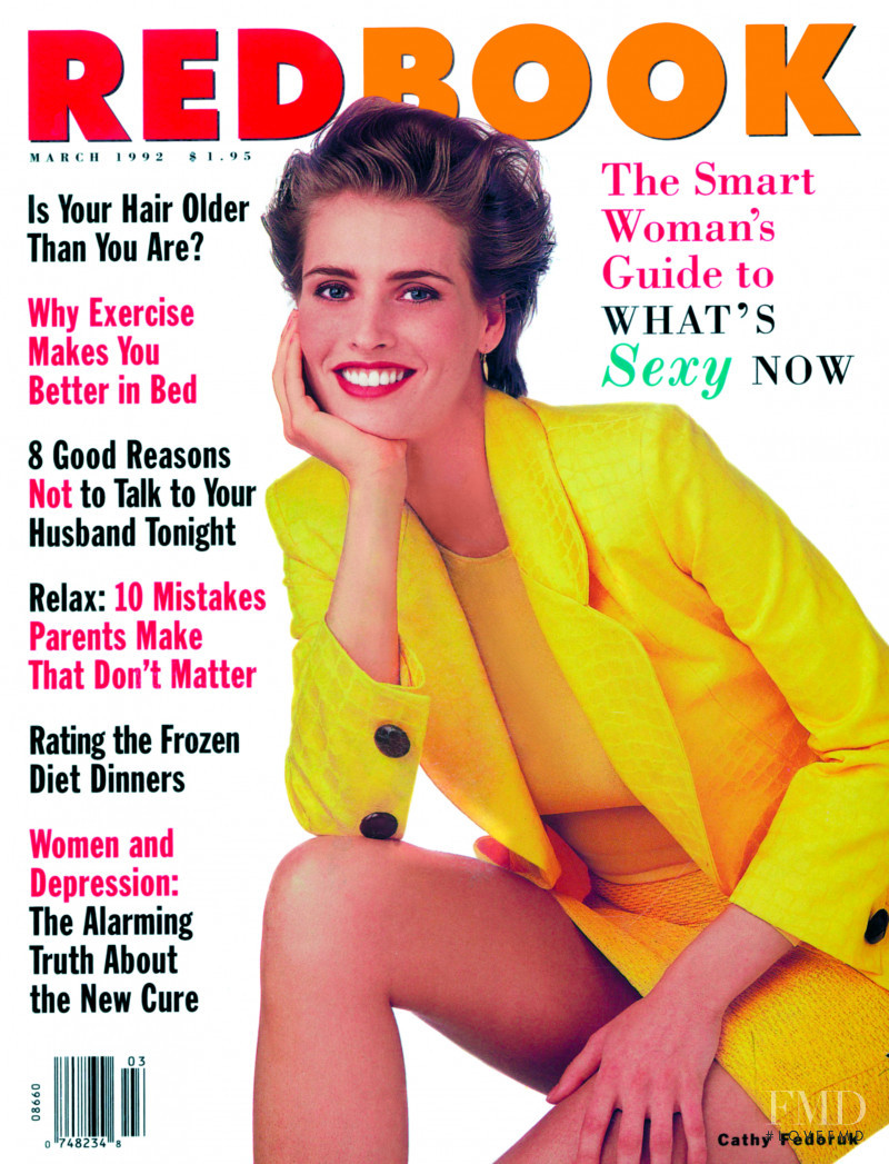 Cathy Fedoruk featured on the Redbook cover from March 1992