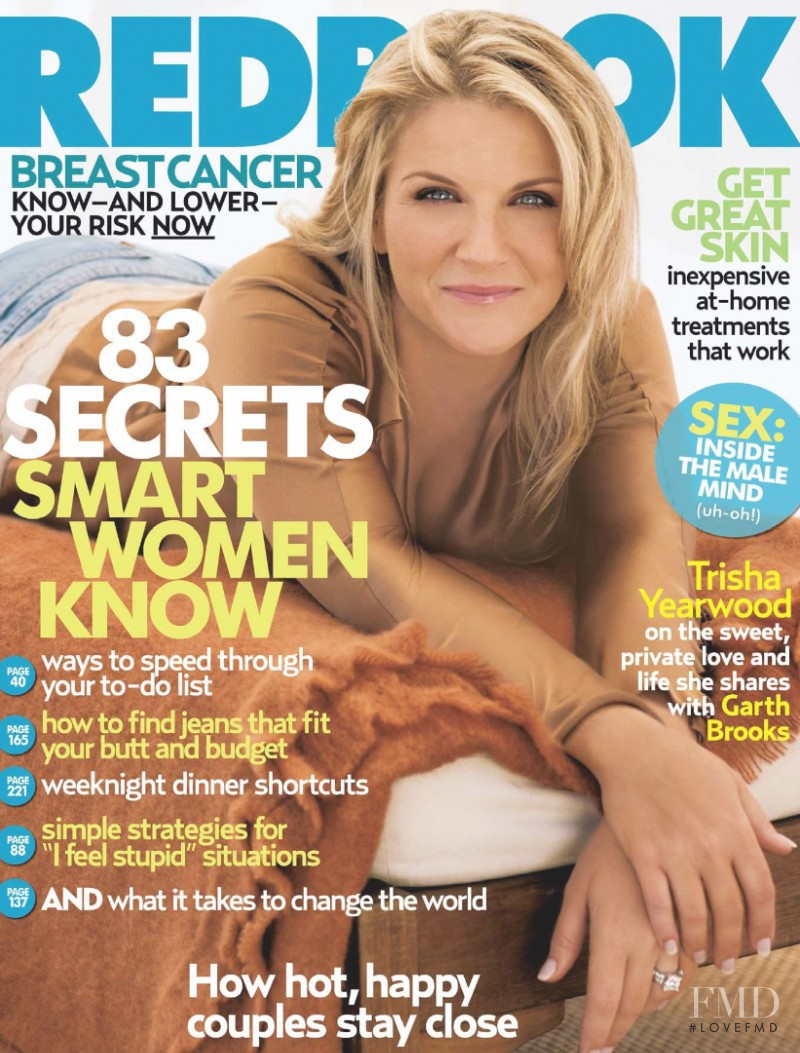 Trisha Yearwood featured on the Redbook cover from October 2005