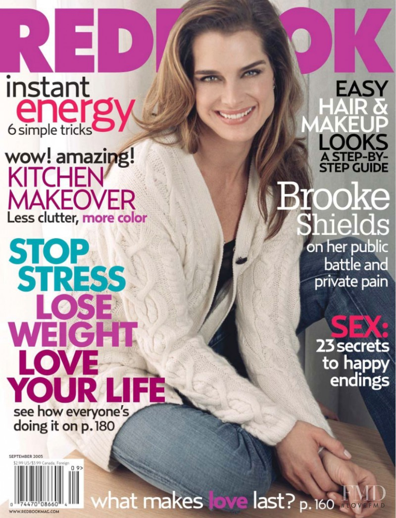 Brooke Shields featured on the Redbook cover from September 2005