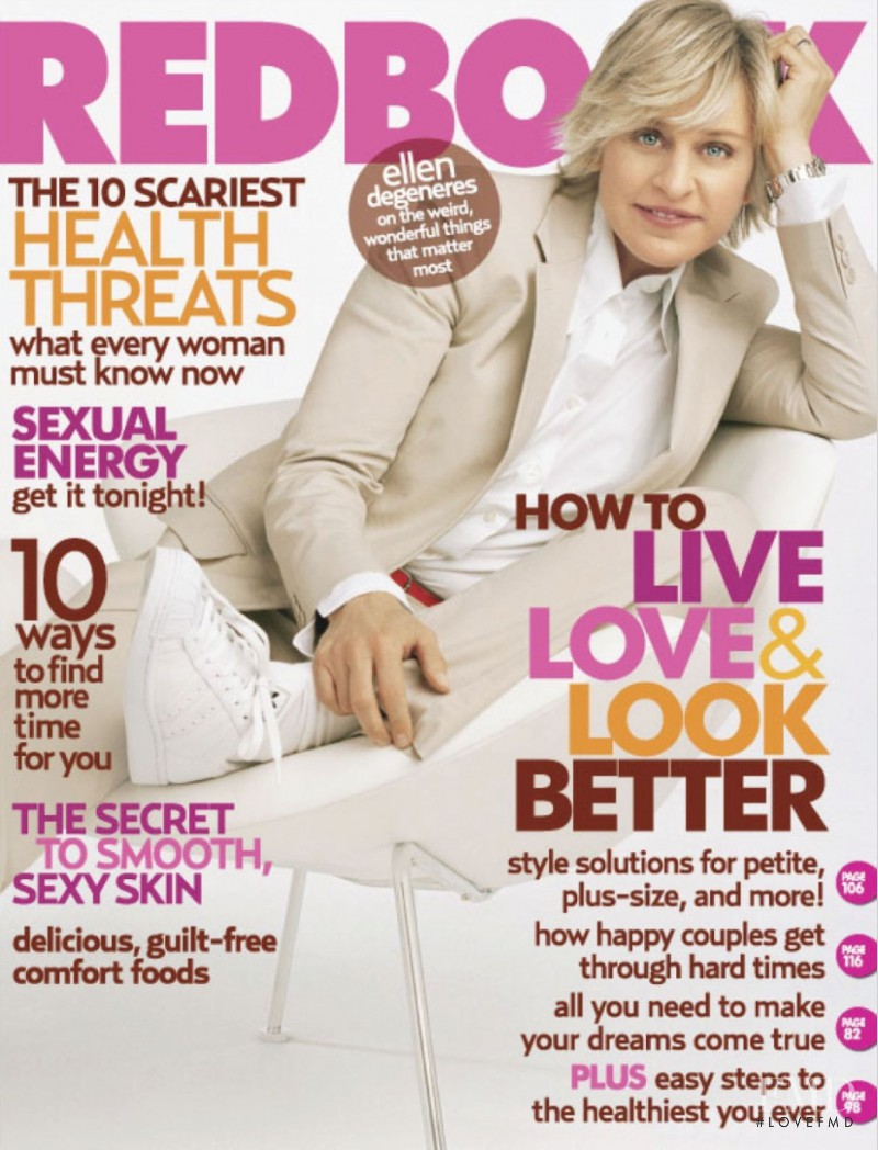 Ellen Degeneres featured on the Redbook cover from January 2006