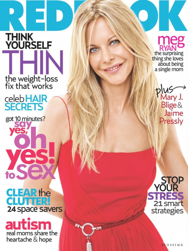 Meg Ryan featured on the Redbook cover from May 2007