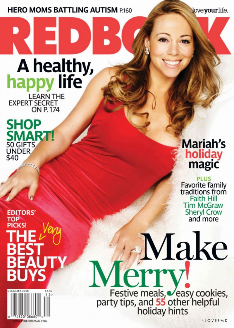 Mariah Carey featured on the Redbook cover from December 2008
