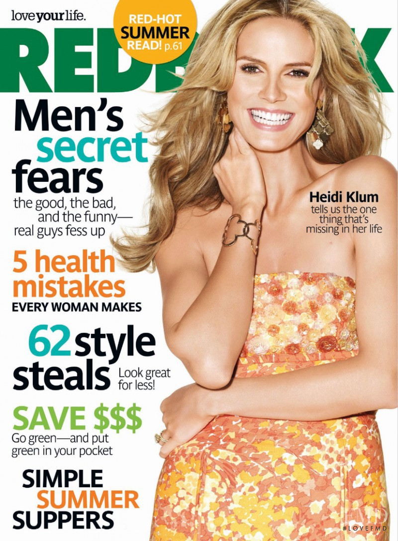 Heidi Klum featured on the Redbook cover from July 2008