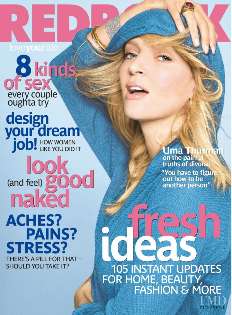 Uma Thurman featured on the Redbook cover from March 2008