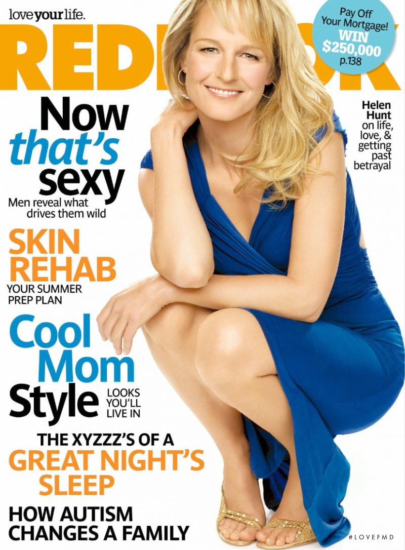 Helen Hunt featured on the Redbook cover from May 2008