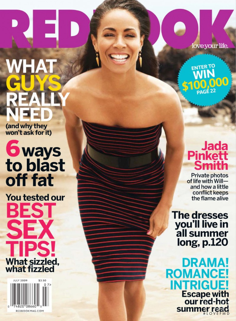 Jade Pinkett Smith featured on the Redbook cover from July 2009