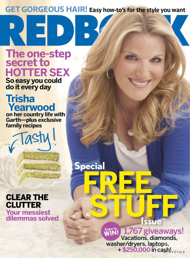 Trisha Yearwood featured on the Redbook cover from April 2010