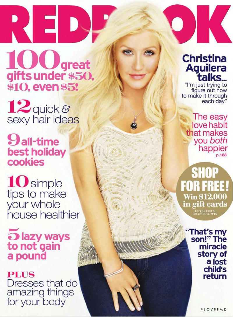 Christina Aguilera featured on the Redbook cover from December 2010