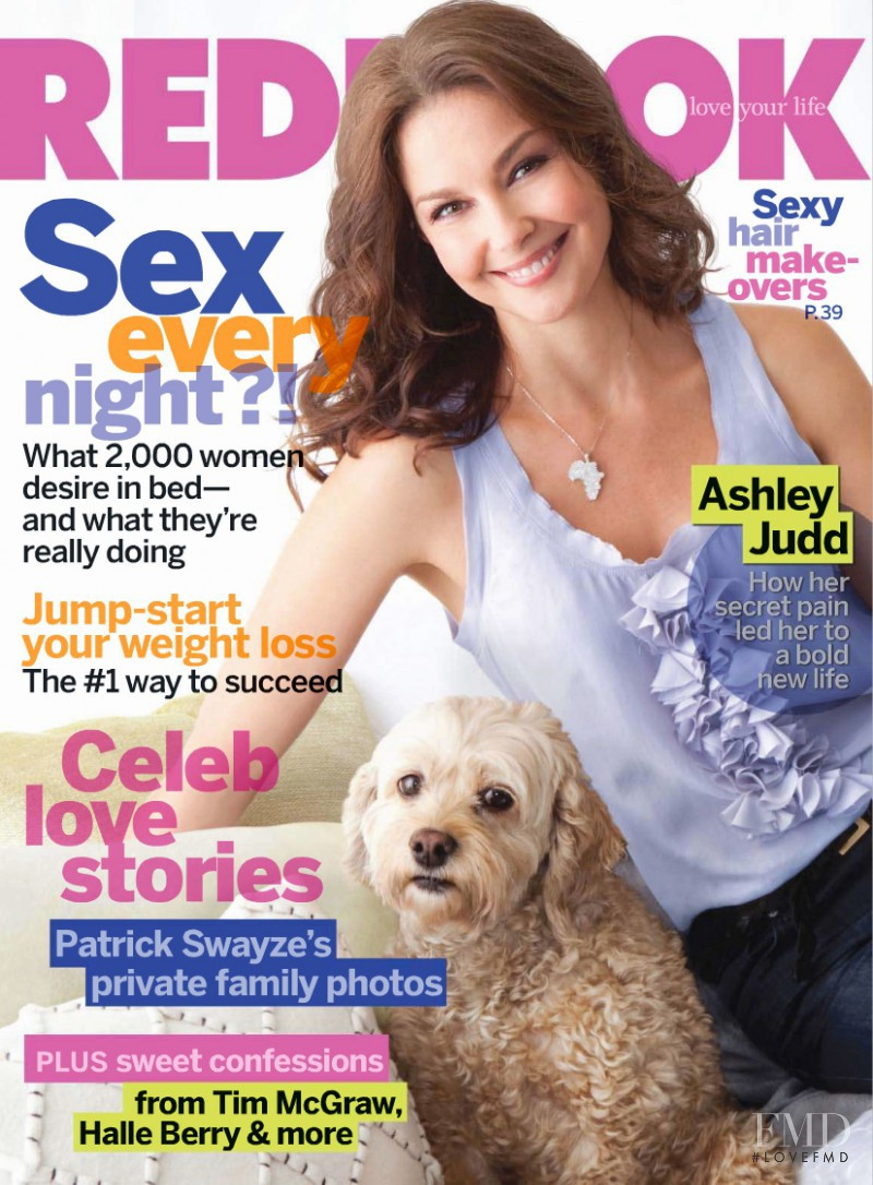 Ashley Judd featured on the Redbook cover from February 2010