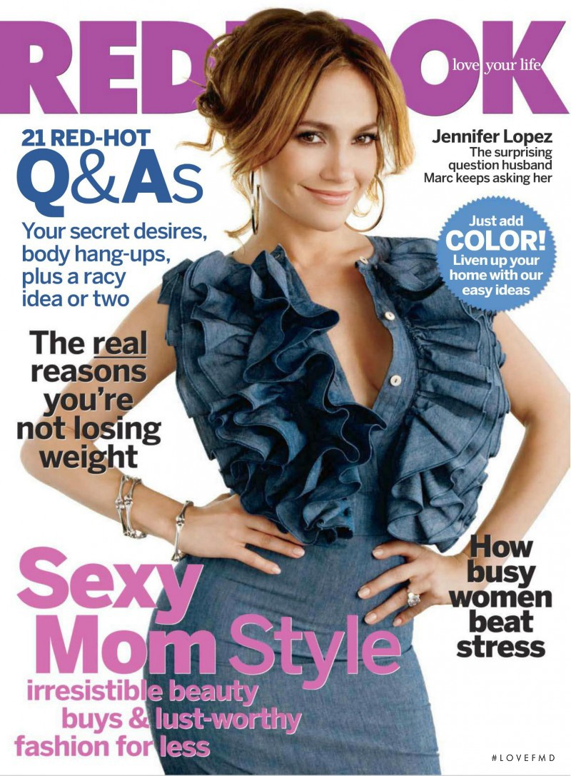 Jennifer Lopez featured on the Redbook cover from May 2010