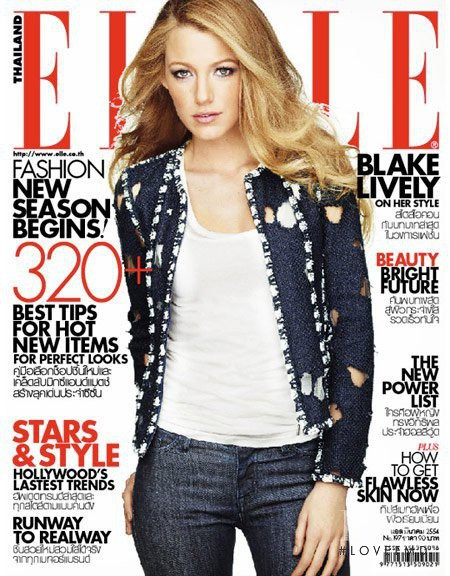 Blake Lively featured on the Elle Thailand cover from March 2011