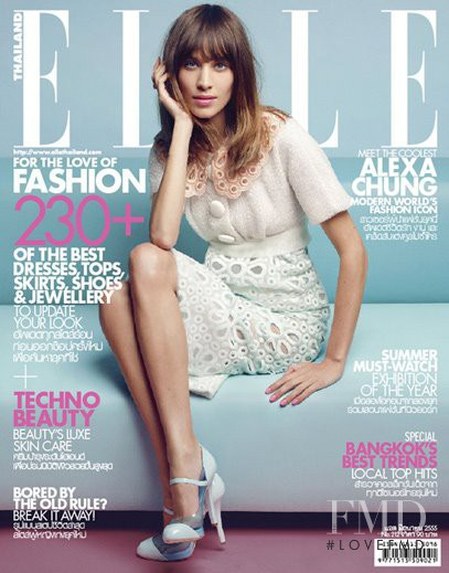Alexa Chung featured on the Elle Thailand cover from June 2012