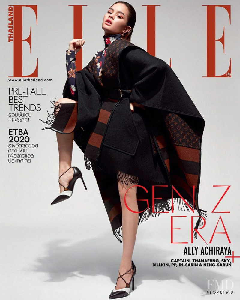 Achiraya Nitibhon featured on the Elle Thailand cover from July 2020