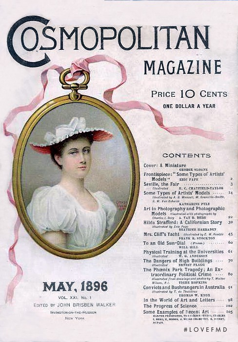 featured on the Cosmopolitan USA cover from May 1896