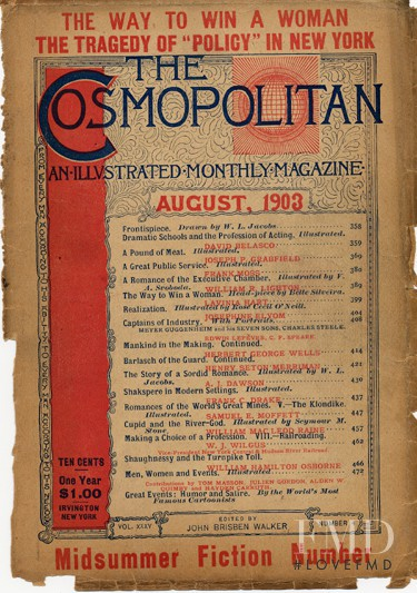 featured on the Cosmopolitan USA cover from August 1903