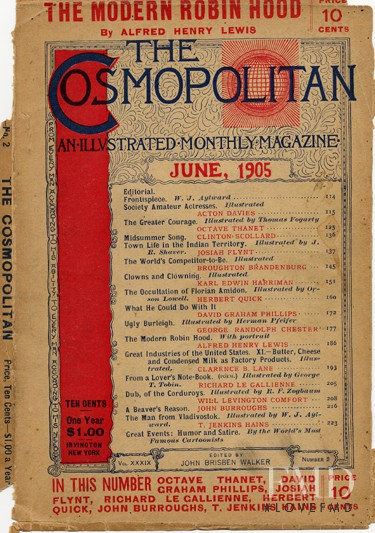 featured on the Cosmopolitan USA cover from June 1905
