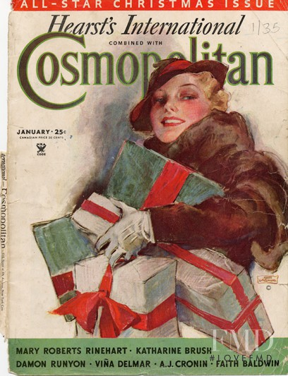 featured on the Cosmopolitan USA cover from January 1935