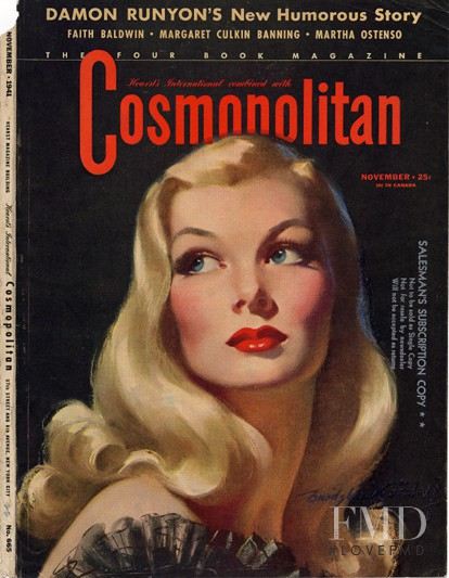 featured on the Cosmopolitan USA cover from November 1941