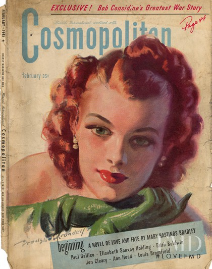 featured on the Cosmopolitan USA cover from February 1945