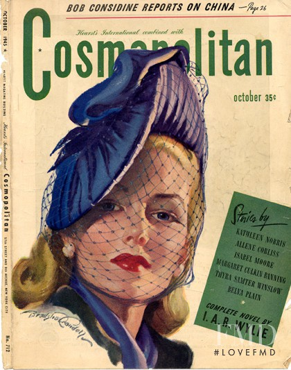 featured on the Cosmopolitan USA cover from October 1945