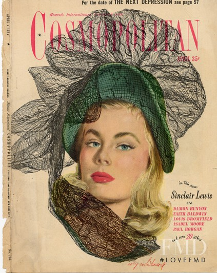 featured on the Cosmopolitan USA cover from April 1947