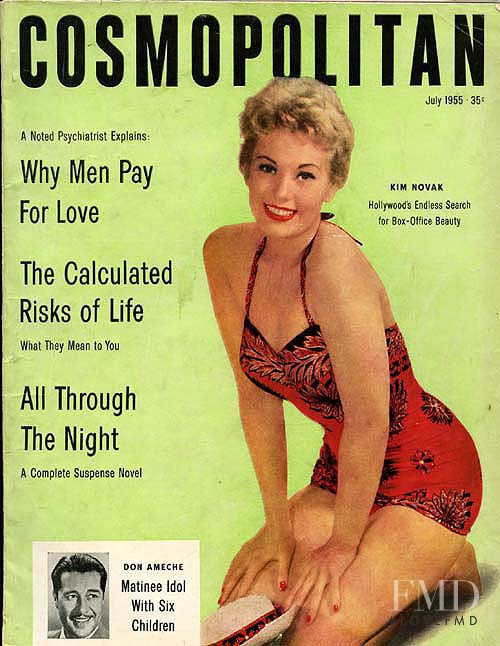 featured on the Cosmopolitan USA cover from July 1955