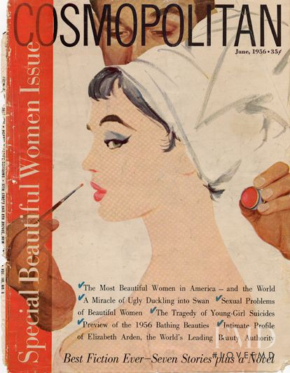 featured on the Cosmopolitan USA cover from June 1956