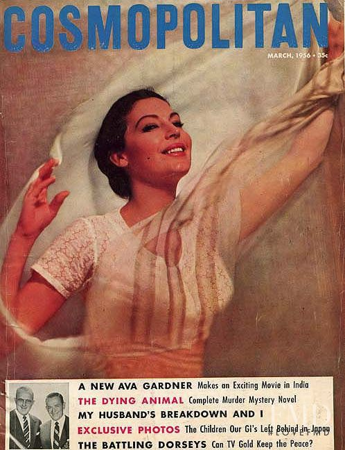 featured on the Cosmopolitan USA cover from March 1956