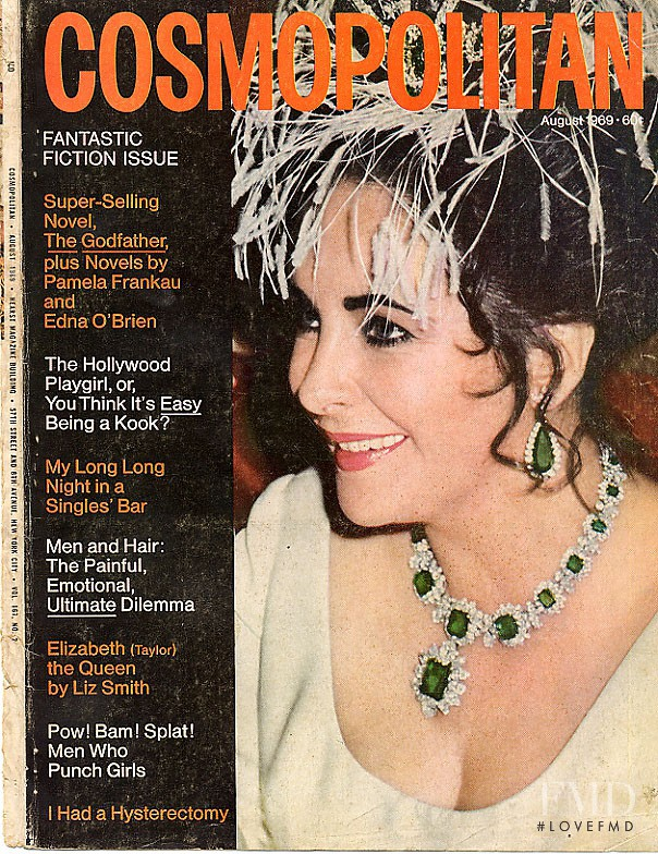 featured on the Cosmopolitan USA cover from August 1969